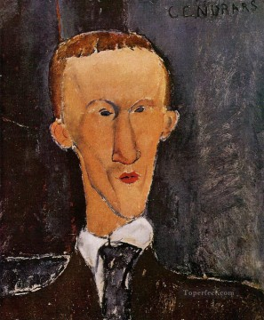 Modigliani Deco Art - portrait of blaise cendrars 1917 Amedeo Modigliani