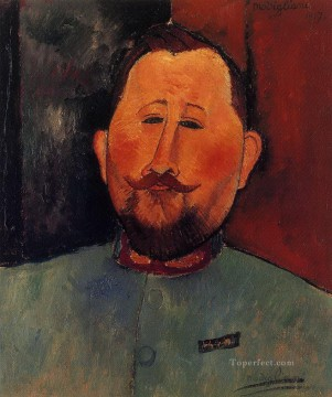 portrait of doctor devaraigne 1917 Amedeo Modigliani Oil Paintings