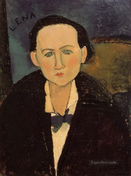 Amedeo Modigliani Painting - portrait of elena pavlowski 1917 Amedeo Modigliani