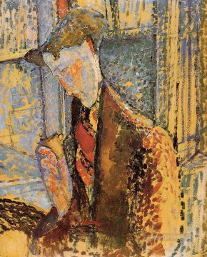 Amedeo Modigliani Painting - portrait of frank burty haviland 1914 Amedeo Modigliani