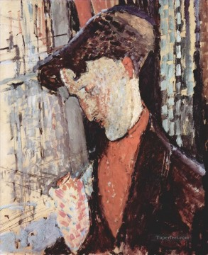 Modigliani Deco Art - portrait of frank haviland burty 1914 Amedeo Modigliani