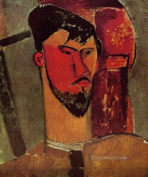 modigliani - portrait of henri laurens 1915 Amedeo Modigliani
