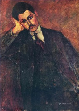 Modigliani Deco Art - portrait of jean alexandre 1909 Amedeo Modigliani