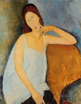 hebuterne Works - portrait of jeanne hebuterne 1918 1 Amedeo Modigliani