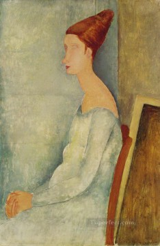 hebuterne Works - portrait of jeanne hebuterne 1918 2 Amedeo Modigliani