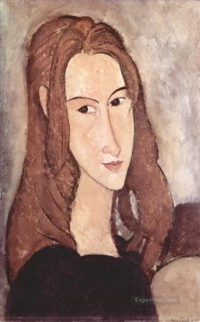 hebuterne Works - portrait of jeanne hebuterne 1918 3 Amedeo Modigliani