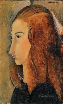 Amedeo Oil Painting - portrait of jeanne hebuterne 1918 Amedeo Modigliani