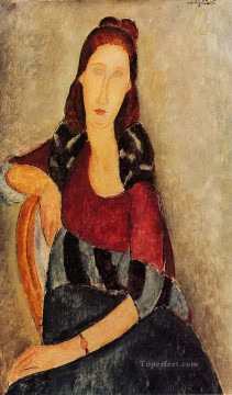 portrait of jeanne hebuterne 1919 Amedeo Modigliani Oil Paintings