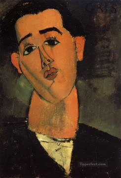 portrait of juan gris 1915 Amedeo Modigliani Oil Paintings