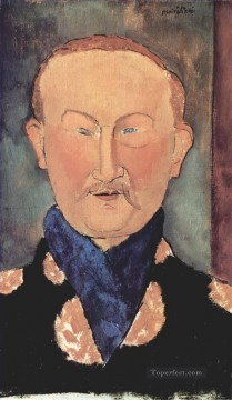 Amedeo Oil Painting - portrait of leon bakst 1917 Amedeo Modigliani