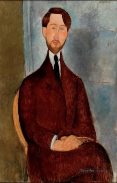 1917 Canvas - portrait of leopold zborowski 1917 Amedeo Modigliani