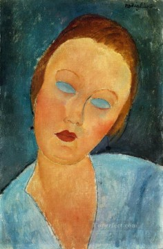 Amedeo Oil Painting - portrait of madame survage 1918 Amedeo Modigliani