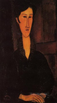 1917 Canvas - portrait of madame zborowska 1917 Amedeo Modigliani