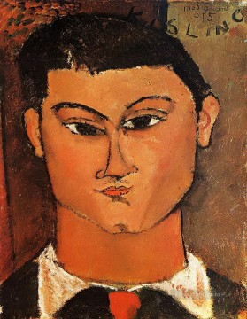 portrait of moise kisling 1915 Amedeo Modigliani Oil Paintings