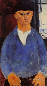 Amedeo Oil Painting - portrait of moise kisling 1916 Amedeo Modigliani