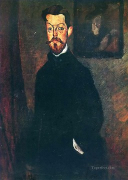 Amedeo Oil Painting - portrait of paul alexandre 1909 Amedeo Modigliani