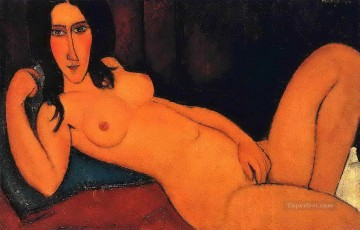 Amedeo Modigliani Painting - reclining nude 1917 2 Amedeo Modigliani