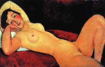Modigliani Art Painting - reclining nude 1917 Amedeo Modigliani