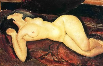 Amedeo Modigliani Painting - recumbent nude 1917 Amedeo Modigliani