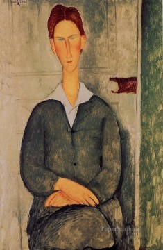 Modigliani Deco Art - red haired young man 1919 Amedeo Modigliani