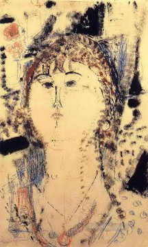 Amedeo Modigliani Painting - rosa porprina 1915 Amedeo Modigliani