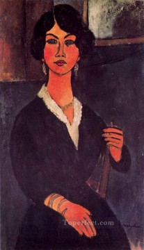 seated algerian almaiisa 1916 Amedeo Modigliani Oil Paintings