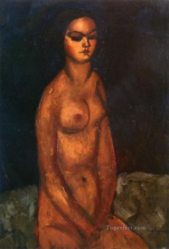 seated nude 1908 Amedeo Modigliani Oil Paintings