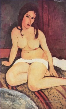 seated nude 1917 2 Amedeo Modigliani Oil Paintings