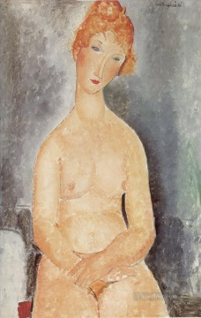 1918 Painting - seated nude 1918 Amedeo Modigliani