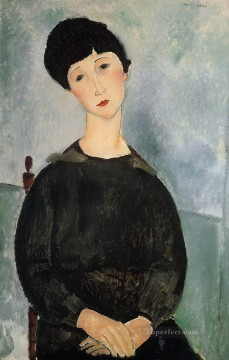 1918 Painting - seated young woman 1918 Amedeo Modigliani