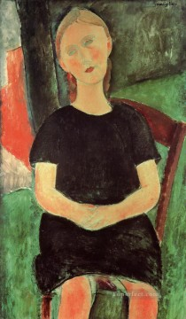 modigliani - seated young woman Amedeo Modigliani