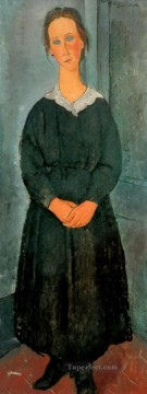 Amedeo Modigliani Painting - servant girl Amedeo Modigliani