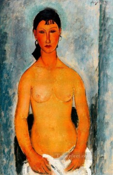Amedeo Modigliani Painting - standing nude elvira 1918 Amedeo Modigliani