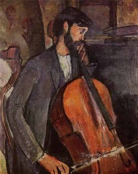 study for the cellist 1909 Amedeo Modigliani Oil Paintings