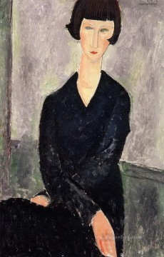 Amedeo Modigliani Painting - the black dress 1918 Amedeo Modigliani
