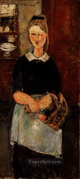 Amedeo Oil Painting - the pretty housewife 1915 Amedeo Modigliani