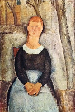 1918 Painting - the pretty vegetable vendor 1918 Amedeo Modigliani