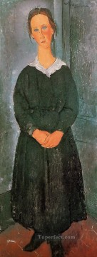 Amedeo Modigliani Painting - the servant girl Amedeo Modigliani