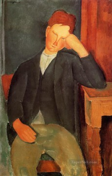 Amedeo Modigliani Painting - the young apprentice Amedeo Modigliani