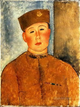 1918 Painting - the zouave 1918 Amedeo Modigliani