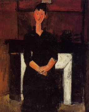 woman seated by a fireplace 1915 Amedeo Modigliani Oil Paintings
