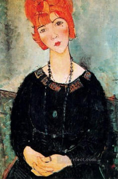 1917 Canvas - woman with a necklace 1917 Amedeo Modigliani