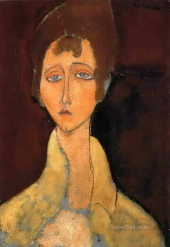 Modigliani Art Painting - woman with white coat 1917 Amedeo Modigliani