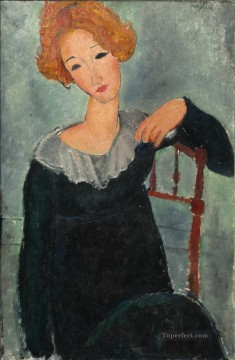 Amedeo Modigliani Painting - women with red hair amedeo modigliani Amedeo Modigliani