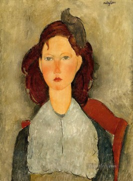 1918 Painting - young girl seated 1918 Amedeo Modigliani
