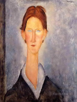 young man student 1919 Amedeo Modigliani Oil Paintings