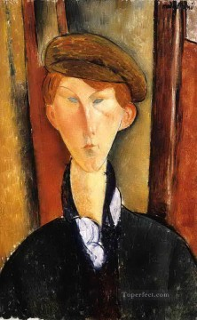 young man with cap 1919 Amedeo Modigliani Oil Paintings