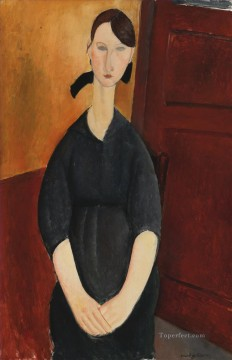 Amedeo Modigliani Painting - young woman 2 Amedeo Modigliani