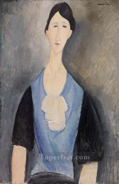 modigliani - young woman in blue Amedeo Modigliani