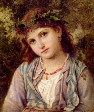 An Autumn Princess genre Sophie Gengembre Anderson Oil Paintings